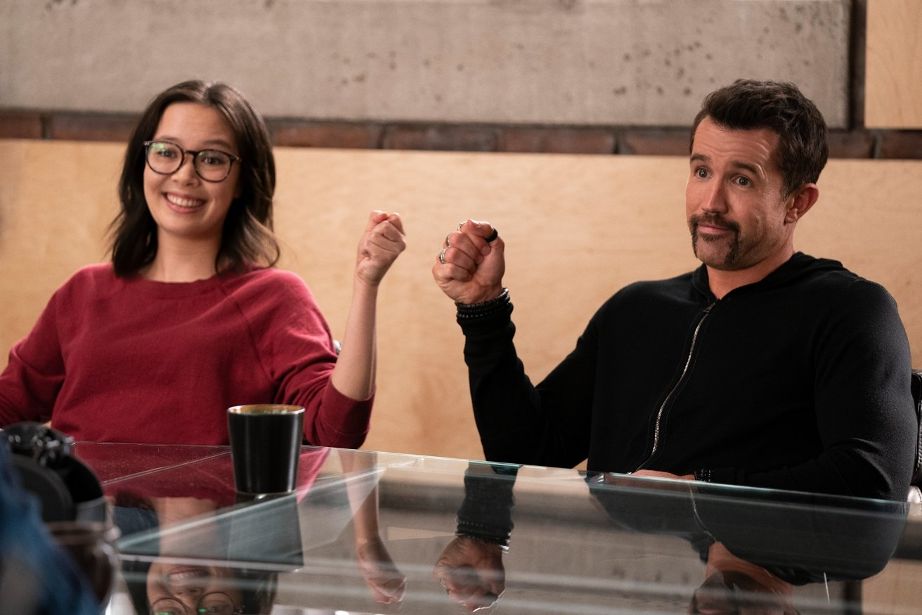 Rob McElhenney and Charlotte Nicdao in